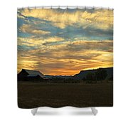 Table Rock Sunset And Barn Shower Curtain