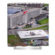 Table Top Channel 7 Shower Curtain