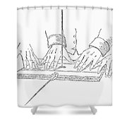 Table-turning Device, 1853 Shower Curtain