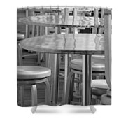 Tables And Stools Shower Curtain
