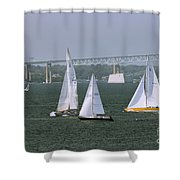 Tacking In Newport  Shower Curtain