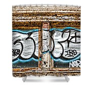 Tagged Window Shower Curtain