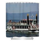 Tahoe Gal On Lake Tahoe Shower Curtain