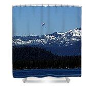 Tahoe Parasailing Shower Curtain