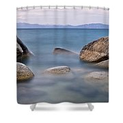 Tahoe Rocks Shower Curtain