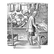 Tailors, 16th Century Shower Curtain