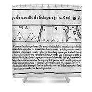 Tailors Pattern Book, 1589 Shower Curtain