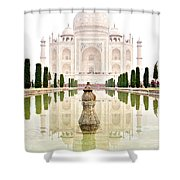 Taj Mahal On The Vertical Shower Curtain