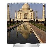 Taj Mahal Reflection Shower Curtain