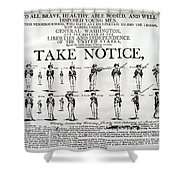 Revolutionary War  Take Notice  Shower Curtain