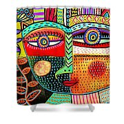 -talavera Owl Goddess Shower Curtain