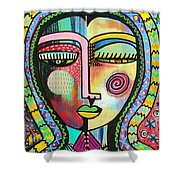 -talavera Virgin Of Guadalupe Protection Shower Curtain