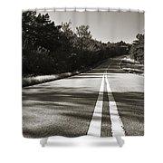 Talimena Roads II Shower Curtain