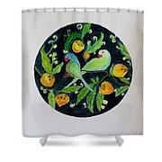 Talkative Parakeets Shower Curtain