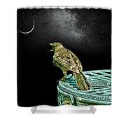 Talking To The Moon Shower Curtain