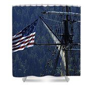 Tall Ship 3 Shower Curtain by Bob Christopher