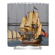 Tall Ship Five Shower Curtain