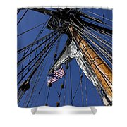 Tall Ship Rigging Shower Curtain