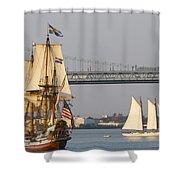Tall Ship Six Shower Curtain