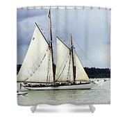 Tall Ship Tacoma Shower Curtain by Bob Christopher