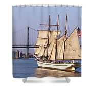 Tall Ship Three Shower Curtain