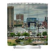 Tall Ships At Baltimore Inner Harbor Shower Curtain