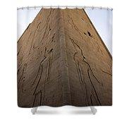 Tall Wall At Edfu Shower Curtain by Darcy Michaelchuk