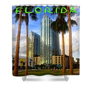Tampa Florida Poster Work Number One Shower Curtain