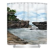 Tanah Lot Temple II Bali Indonesia Shower Curtain