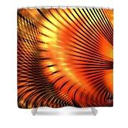 Tangerine Shower Curtain