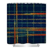 Tangerine Plaid Shower Curtain by Bonnie Bruno