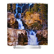 Tangle Falls At Dusk, Jasper National Shower Curtain