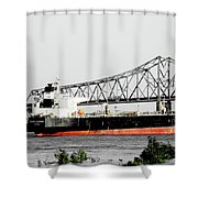 Tanker Baton Rouge Shower Curtain