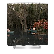 Tannic Acid From Old Trees Stains Water Shower Curtain
