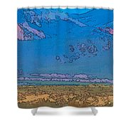 Taos Abstract Shower Curtain
