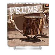 Taos Drum Shop Shower Curtain