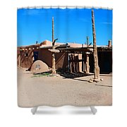 Taos Pueblo Shower Curtain