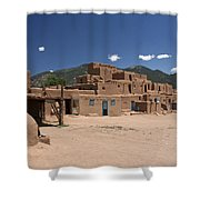 Taos Pueblo Shower Curtain