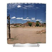 Taos Pueblo New Mexico Shower Curtain