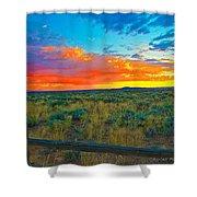 Taos Sunset Ix Shower Curtain