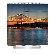 Tappan Zee Bridge Twilight I Shower Curtain