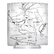 Tarantella Dance - Italy Shower Curtain