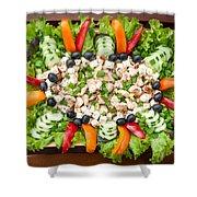 Tasty Chicken Salad Shower Curtain