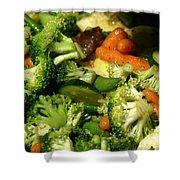 Tasty Veggie Stir Fry Shower Curtain