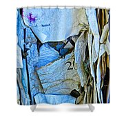 Tattered Paper On A Bulletin Board No.1045 Shower Curtain