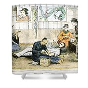 Tattoo Parlor, 1882 Shower Curtain