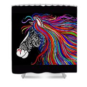 Tattooed Horse Shower Curtain