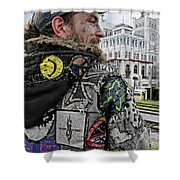 Tattoos And Patches Shower Curtain