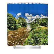 Taughannock Falls Creek Shower Curtain