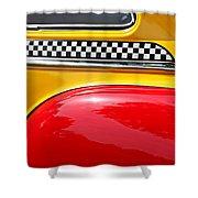 Taxi 1946 Desoto Detail Shower Curtain